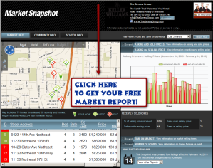 free real estate report, market information