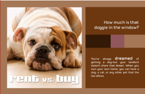 pet ownership, renting versus buying a home